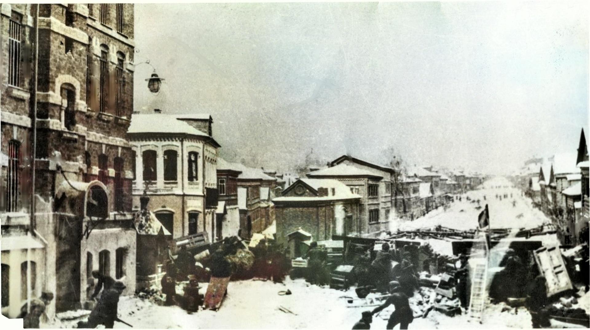 История одной фотографии:  улица Баррикад со стороны Коминтерна, изображение №1
