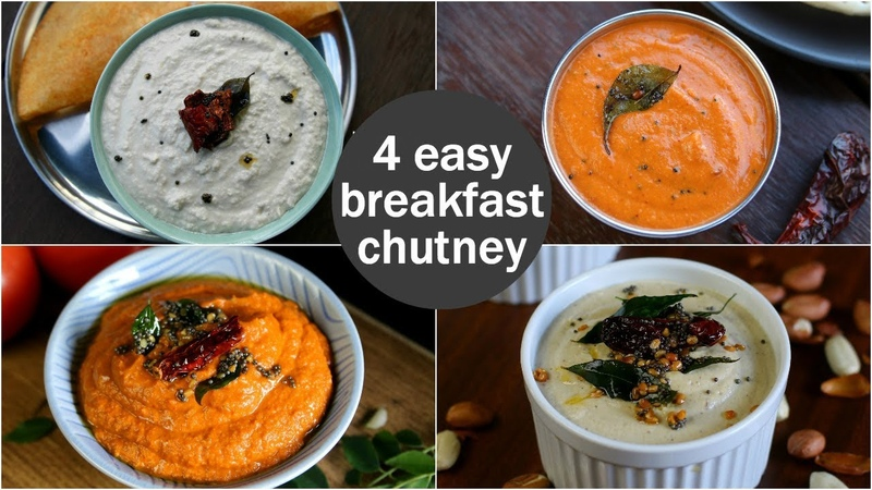 4 easy quick chutney recipes for idli dosa south indian breakfast chutney recipes