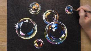 How to Paint Bubbles / OHP Painting Technique / Easy Acrylic Painting