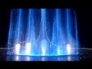 Поющий фонтан ночью Michael Jackson Олимпийский парк Сочи