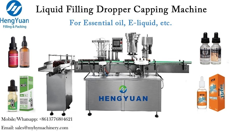 Automatic Filling Dropper Cap Sealing Machine E liquid Filler Capper