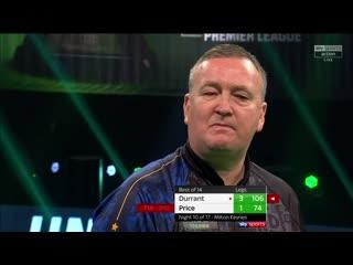 Glen Durrant vs Gerwyn Price (PDC Premier League Darts 2020 / Week 10)