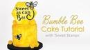 Bumble Bee Drip Cake Decorating Tutorial