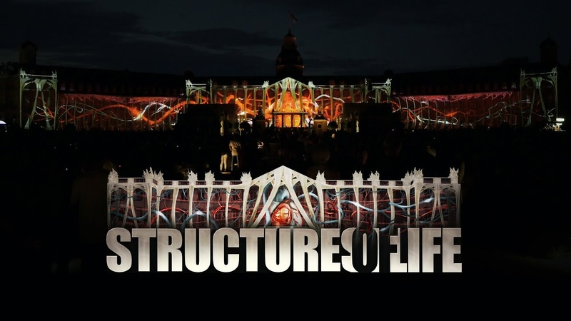 Structures of Life Projection Mapping on Palace of Karlsruhe for Schlosslichtspiele 2017 4K