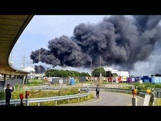 Мощный взрыв прогремел на химическом полигоне в городе Леверкузен в Германии…