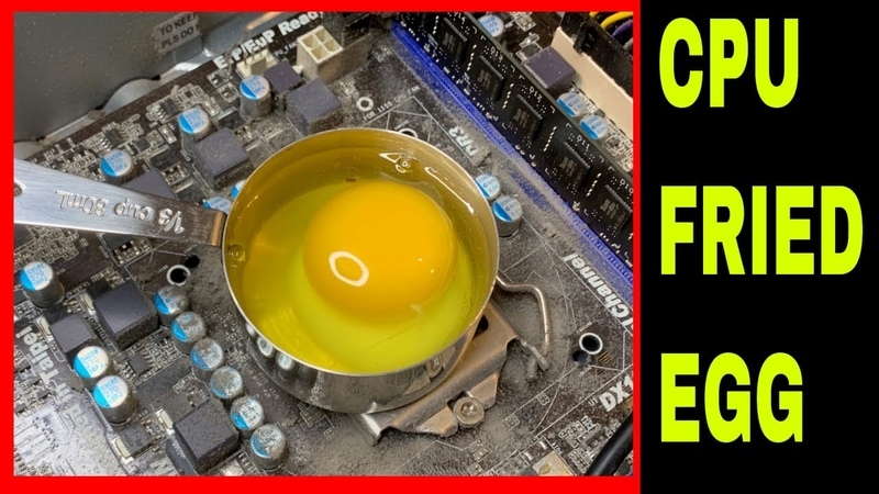 How to Cook an Egg in a Computer! A Demonstration on CPU Heat.