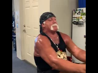 Hulk Hogan's workout in 66 years old 2020