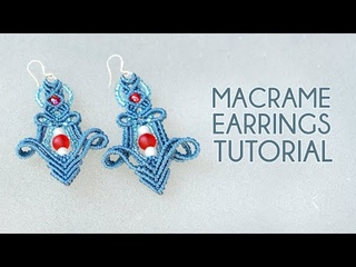 Elegant Macrame Earrings with Beads   NEW Pattern Tutorial