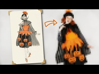 I Tried Recreating This Retro Halloween Costume!
