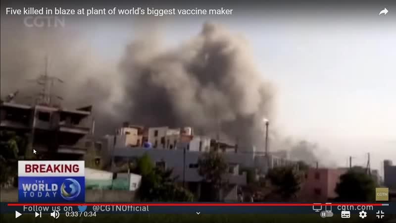 Biggest Vaccine producing plant burns hahaha