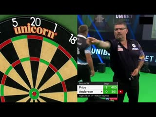 Gerwyn Price vs Gary Anderson (PDC Premier League Darts 2020 / Week 16)