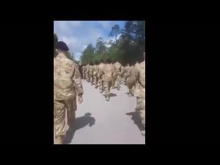 Строевая песня американских военнослужащих, посвящённая COVID-19