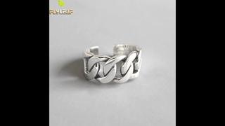 Женские открытые кольца в форме цепи flyleaf, из стерлингового серебра 925 пробы, модные ювелирные