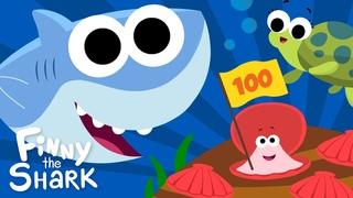 Let's Count To 100 | Finny The Shark | Songs for Kids