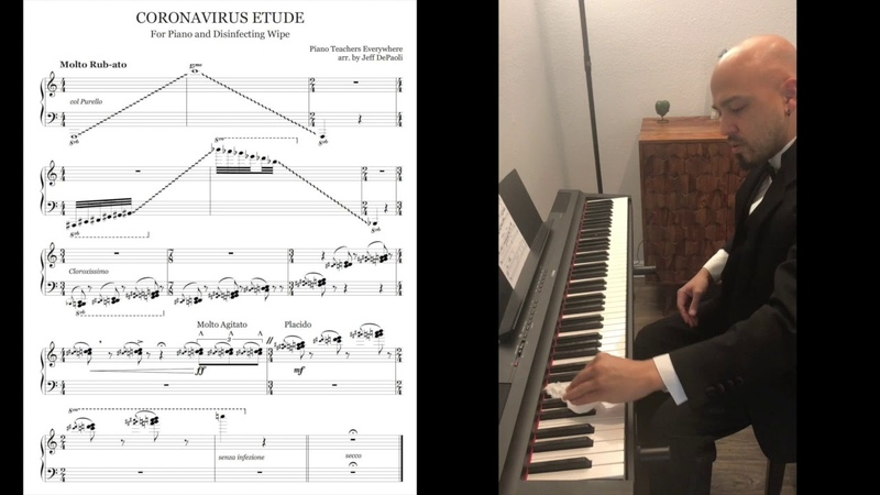 Coronavirus Etude for Piano and Disinfecting Wipe WATCH UNTIL THE END