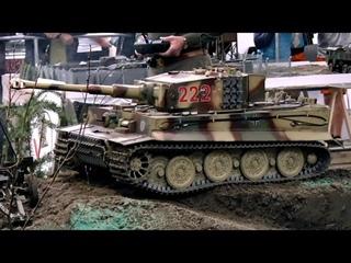 RC TANKS IN ACTION XXL RC TANK PANZER TIGER SCALE 1:5 GERMAN TANK / Intermodellbau Dortmund 2015