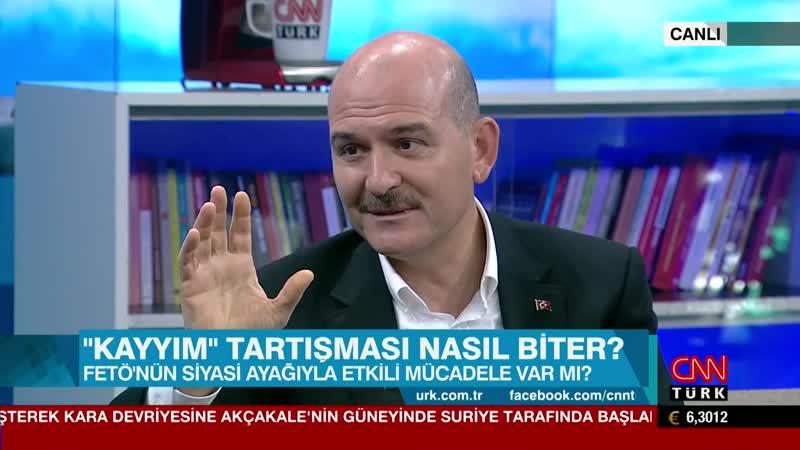 İ işleri Bakanı Süleyman Soylu nun cnntürk te A ıklamaları 08.09.2019