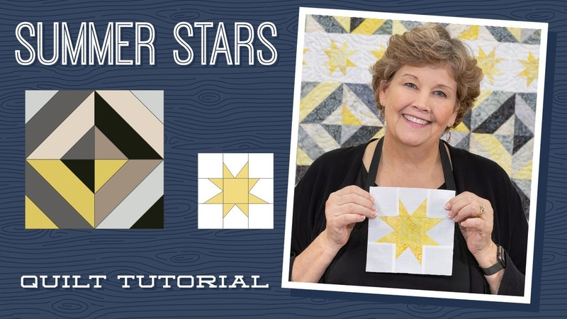 Make a Summer Stars Picnic Quilt with Jenny Doan of Missouri Star Video Tutorial