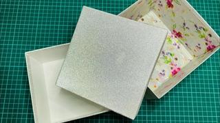 Как сделать коробку ? Handmade gift box, part 1. 🎁🎁🎁. Подарочная коробка. Часть 1-ая. 🎁🎁🎁