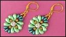 DIY | Beaded Green Zoliduo Earrings | Beadwork Jewelry | Grüne Perlen Ohrringe | Schmuck