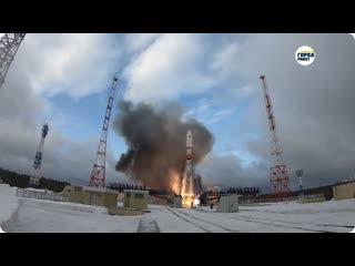 Пуск РН Союз-2.1а с КА Меридиан-М с Плесецка  20 февраля 2020 г