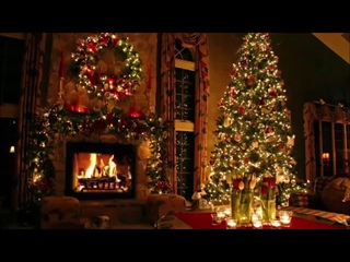 Classic Christmas Music with a Fireplace and Beautiful Background (Classic) (2 hours)