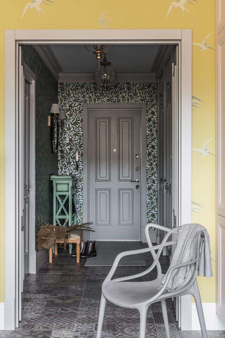 Квартира с орнаментами по проекту Ксении Дуравиной, 69 м²