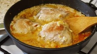 Вкусный Рецепт с Курицей В Сметанном Соусе на Сковороде