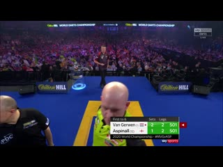 Michael van Gerwen vs Nathan Aspinall (PDC World Darts Championship 2020 / Semi Final)