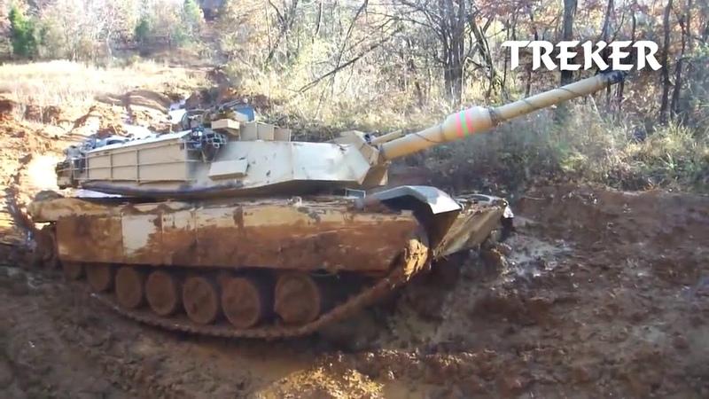 Американские и русские танки против грязи American and Russian tanks against mud