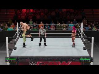WWE 2K17 Lifting brock with bayley