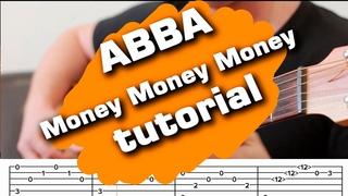 abba money money money guitar tutorial tabs fingerstyle cover instrumental (guitarclub4you)