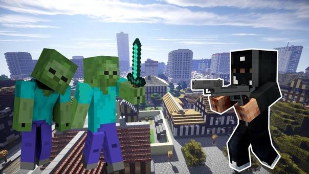 игры майнкрафт выживание в городе зомби #11