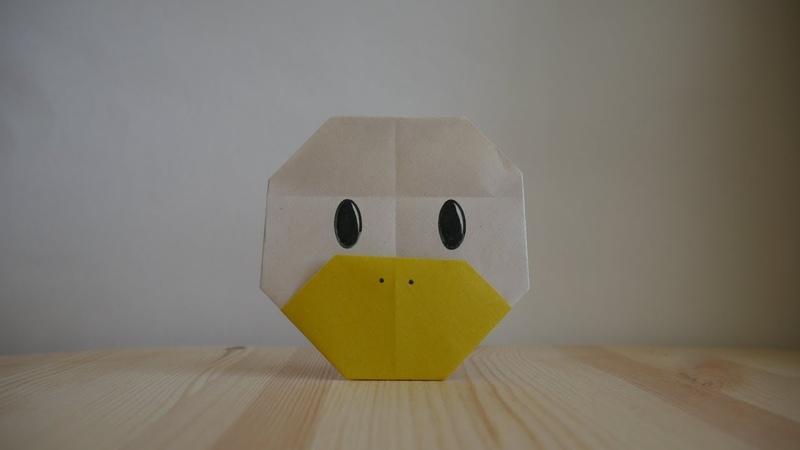 Оригами Как сделать утку из бумаги видео урок