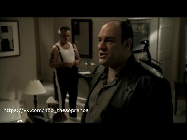 The Sopranos Клан Сопрано Тони увидел картину в квартире Поли