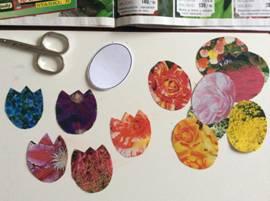 АППЛИКАЦИЯ НА 8 МАРТА ЦВЕТЫ Оригинальную аппликацию на тему весна можно сделать вместе с детьми, если вместо обычной цветной бумаги использовать вырезки из пакетиков от семян или