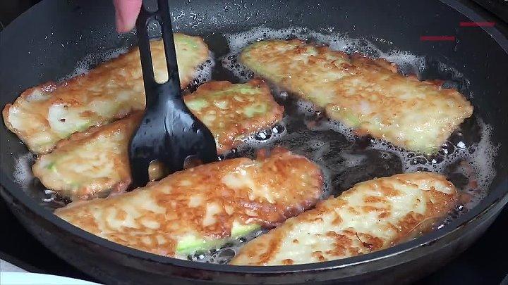 Жареные кабачки. Один из очень удачных рецептов.