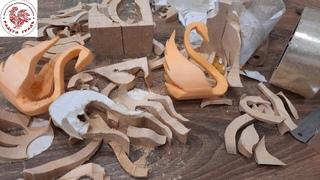 Влюбленные лебеди пробная модель/ Выпиливание лобзиком/ Чем можно заменить древесину