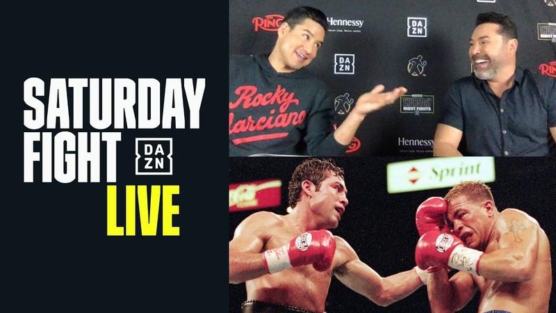 Oscar De La Hoya Mario Lopez Watch Back De La Hoya vs Gatti Saturday Fight Live