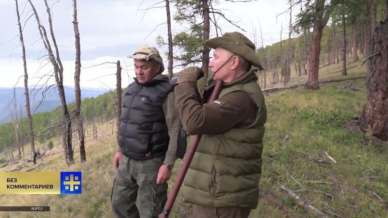 Шакломов и Шойгу (Жи-2) уехали в сибирскую тайгу накануне дня рождения Главного Вора. Смотрят что ещё поджечь, а то не вся тайга сгорела. Остальное загонят твари чинайцам за копейки.