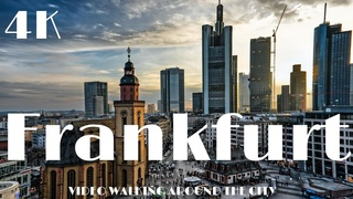 FRANKFURT Germany 🇩🇪  Walking in Europe  Dji Osmo Pocket 4K
