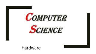 Информатика: современное (не очень) железо