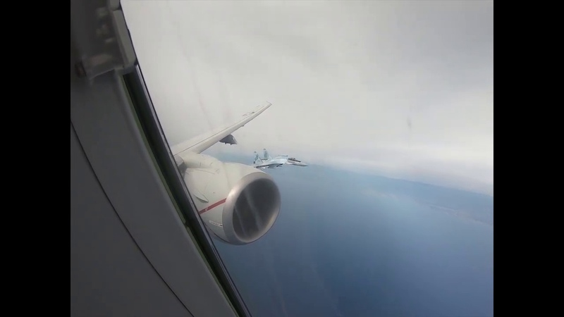 Unsafe Unprofessional Interception by Russian SU 35s over the Mediterranean Sea