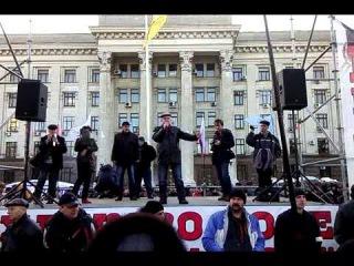 Народное собрание на Куликовом поле, Одесса, 9 марта 2014. Представитель ПСПУ