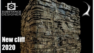New cliff experiment in Substance Designer. Step by step tutorial.