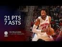 Derrick Rose 21 pts 7 asts vs Pelicans 19 20 season