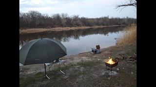Рыбалка на Северском Донце (шашлык, кулеш на костре, картошечка в золе). День первый.