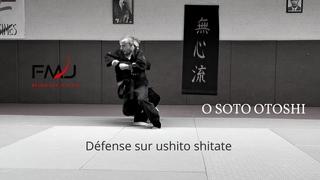 Défense sur ushiro shitate, O soto otoshi. Mushin ryu ju jitsu japonais