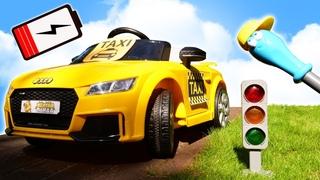 Автомастерская Саши: электромобиль разрядился! Крутые видео про машинки для мальчиков