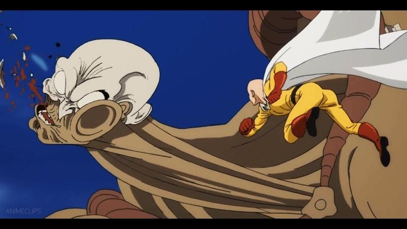 Сайтама размазывает злодеев направо и налево 1 часть One Punch Man Ванпанчмен